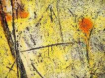 Worn желтая краска Стоковое Изображение RF