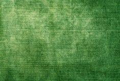 Worn зеленая текстура джинсовой ткани Стоковое Фото