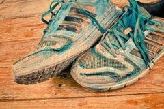 Worn натюрморт ботинок спорт Стоковое Фото