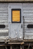 Worn abandoned  railway carriage door Royalty Free Stock Photos