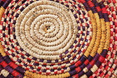 Worn african basket Stock Images
