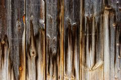 Worn aged plank fence background. Hanf dark half light royalty free stock images