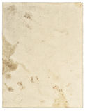 Worn aged stained paper texture closeup. Vintage background stock photo