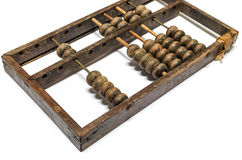 Worn aged wooden abacus Royalty Free Stock Images