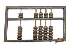 Worn aged wooden abacus Royalty Free Stock Image