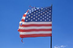 Worn American Flag Royalty Free Stock Photography