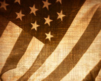 Worn american flag Royalty Free Stock Image