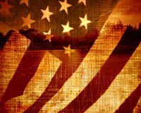 Worn american flag Stock Photography