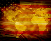 Worn American flag Royalty Free Stock Photo