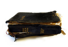 Worn bible Stock Image