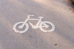 Worn Bike road Royalty Free Stock Image