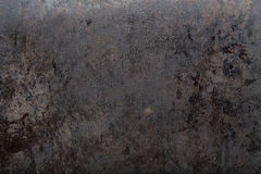Worn black metal background. Brutal old black metal background shabby in spots, space for text Stock Photo