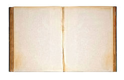 Worn Blank Pages of Old Open Antique Book royalty free stock image
