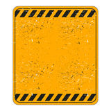 Worn blank traffic warning sign Stock Image