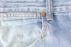 Worn blue denim jeans texture Stock Image