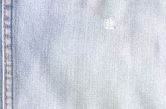 Worn blue denim jeans texture Stock Photos