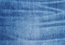 Worn Blue Denim Jeans texture Royalty Free Stock Photography