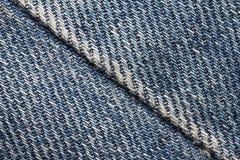 Worn blue denim jeans texture Stock Photos