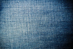 Worn Blue Denim Jeans texture, background. Fabric stock photography