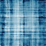 Worn blue fabric texture with visible threads stock illustration