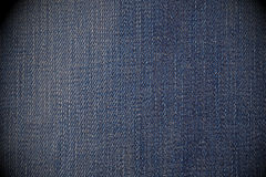 Worn blue jean background Royalty Free Stock Photography