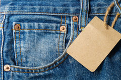 Worn blue jeans Royalty Free Stock Photography