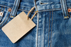 Worn blue jeans Royalty Free Stock Photo