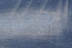 Worn blue jeans texture Royalty Free Stock Photos