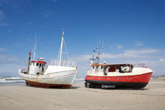 Worn boats Royalty Free Stock Photography