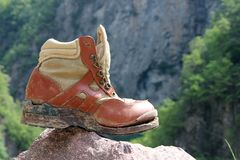 Worn boots Royalty Free Stock Photography