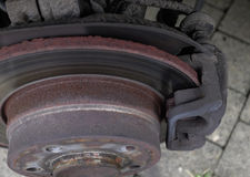 Worn brake discs Royalty Free Stock Image
