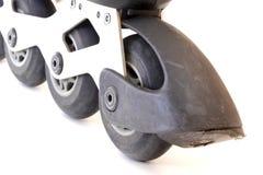 Worn brake inline skate Stock Images