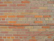 Brick wall with wires 4 royalty free stock image
