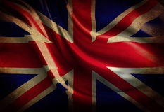 Worn british flag Royalty Free Stock Images