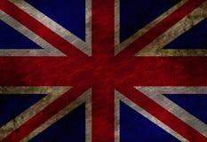 Worn british flag Stock Image