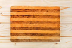 Worn butcher block cutting and chopping board as background Stock Photography