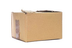 Worn cardboard box Royalty Free Stock Images