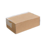A worn cardboard box Stock Photography