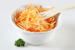 Grated carrot Stock Images