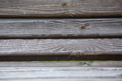 Worn and Carved Wooden Park Bench, Background Texture, Horizontal stock image