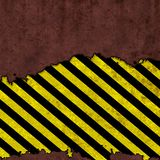 Worn caution sign Stock Image