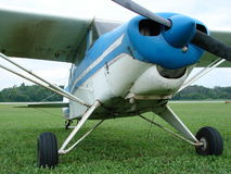 Worn classic 1950's Piper Pa-22-150 Pacer airplane. The photo of this worn classic 1950's Piper Pa-22-150 Pacer airplane was taken at the Royalty Free Stock Photography