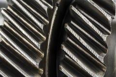 Worn cog wheels Stock Images