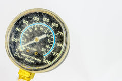 Worn compression tester gauge Royalty Free Stock Images