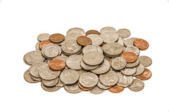 Worn And Dirty Pile Of Coins Royalty Free Stock Images