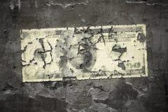 Worn 100 dollar note Stock Photos