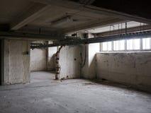 Worn empty warehouse Royalty Free Stock Photo