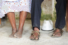 Worn feet - mexico Royalty Free Stock Photos