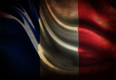 Worn french flag Stock Photos