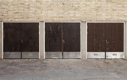 Worn Garage Doors Stock Photography